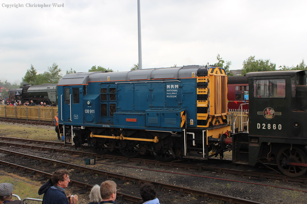 08911 on display having been engaged in the shunting of exhibits during the week