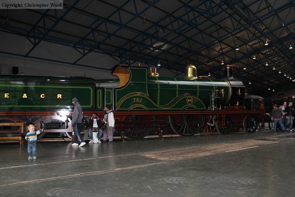 The ex-SE&CR D class locomotive 737