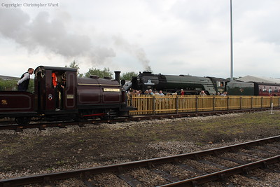 Palmerston (the second oldest steam engine at the event) and Tornado (by some distance the newest)