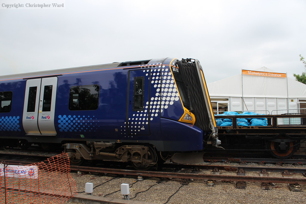 The Scotrail class 380 on display