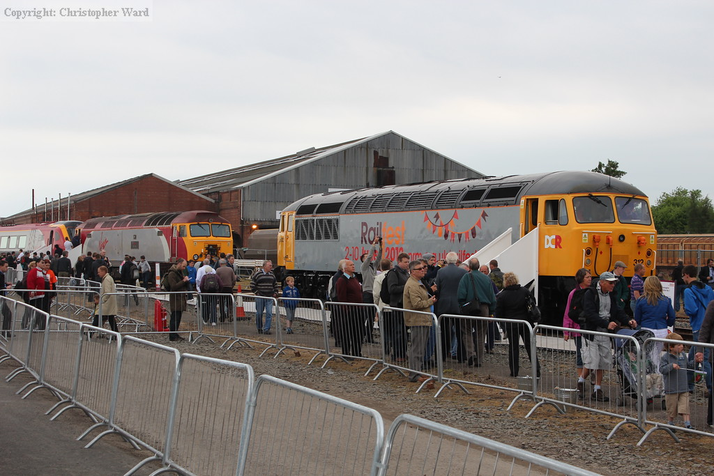 The Railfest liveried class 56 and the Virgin Trains thunderbird class 57 Tin Tin