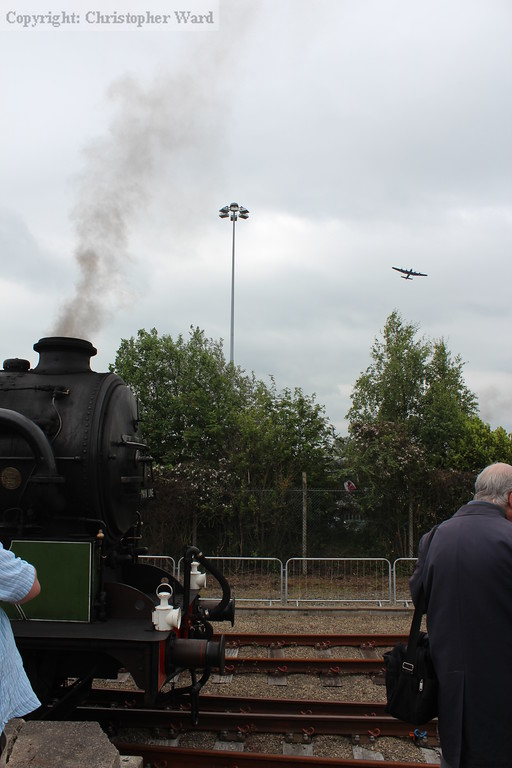 1744 sits as the Lancaster bomber flies past