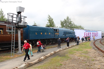 The worlds fastest steam locomotive on a rare visit to the outside world