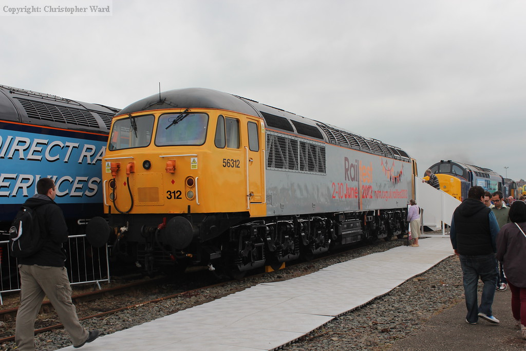 56312 in its Railfest advertising livery