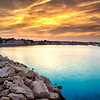Plymouth Harbor Sunset