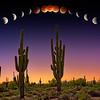 """Lunar Eclipse Blood Moon Over Phoenix"" - Scottsdale, Arizona"