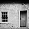 """Door and Window, Black & White"" - New Mexico"