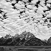 Clouds above the Teton Range at Grand Teton National Park in Wyoming.