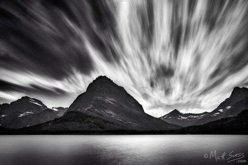 """Swift Running Clouds at Swiftcurrent Lake"" - Glacier National Park, Montana"