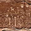 """Writings on the Wall"" - Mesa Verde National Park, Colorado<br /> <br /> These old indian pictograph writings were photographed along a hike in Mesa Verde National Park in Colorado."