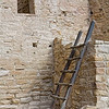 A ladder rests along ruins at Mesa Verde National Park in Colorado.