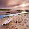Sunset at Paine's Creek Beach & Landing, Brewster, Massachusetts on Cape Cod.