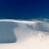 Snow drifts near Chapoquoit Beach and Black Beach, West Falmouth, Cape Cod, Massachusetts.