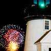 Fireworks at Hyannis Lighthouse