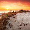 Sunrise at Sandy Neck Beach along the Cape Cod Bay in Barnstable, Cape Cod, Massachusetts