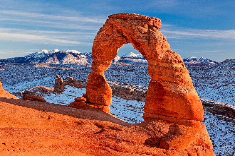 """""""Winter Sunset at Delicate Arch"""" - Arches National Park, Moab, Utah"""