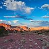 Sunset in Capitol Reef National Park, Utah.