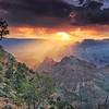 Sunset at Desert View at Grand Canyon National Park, Arizona