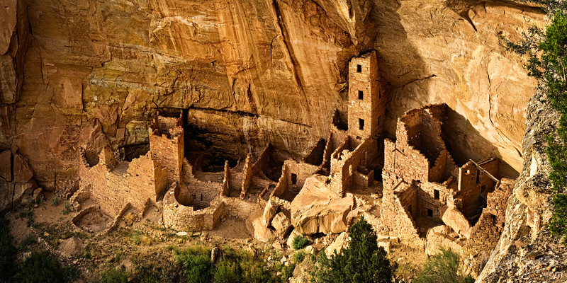 """""""Square Tower House"""" - Mesa Verde National Park, Colorado<br /> <br /> This was photographed in the late afternoon"""