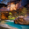 I just truly love this photograph of mine from The Narrows in Zion National Park in Utah!<br /> <br /> The blueness of the water, the fall foliage colors, the orange of the canyon walls - and the light just couldn't have been any more perfect for this photograph. <br /> <br /> I've looked at this photograph for hours and still never get tired of it :)