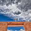 """""""Up to the Heavens"""" was photographed at the famous San Francisco de Asis Mission in Taos, New Mexico. The Mission has been a source for inspiration for such artists as Georgia O'Keefe and Ansel Adams."""