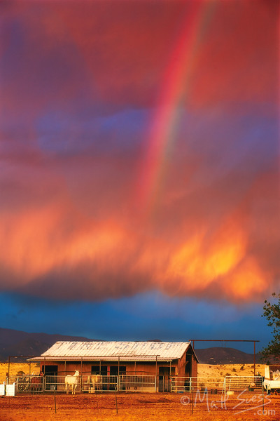 """A Horse Stable Under the Rainbow"" - Santa Fe, NM"