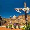 Cross at Mission San Jose in San Antonio, Texas.