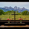 The Chapel of the Transfiguration in Grand Teton National Park, Wyoming.