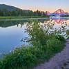Sunrise at Oxbow Bend Turnout at Grand Teton National Park, Wyoming.