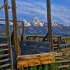 Barns along Mormon Row and Antelope Flats Road in Grand Teton National Park, Wyoming.