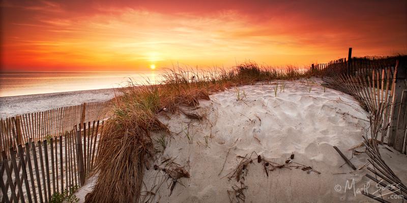 Sunrise at Sandy Neck Beach along the Cape Cod Bay in Barnstable, Cape Cod, Massachusetts