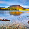 """Sunlight Kiss at Two Medicine Lake"" - Glacier National Park, Montana"