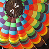 The inside of a balloon at the Albuquerque International Balloon Fiesta in New Mexico.