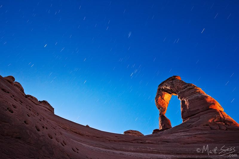 """Delicate Arch Night Light"" - Utah"