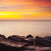 """Sunrise on the Jetty"" - photographed on Mustang Island, Corpus Christi, Texas."
