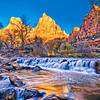 """""""Sunrise at the Court of the Patriarchs"""" in Zion National Park, Utah"""