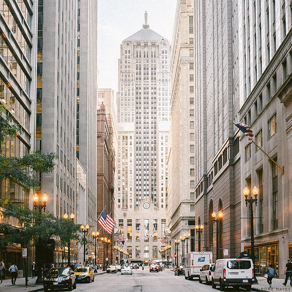 LaSalle St, Board of Trade, Chicago