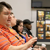 The Arc of Opportunity of North Central Massachusetts staff and representatives from Comcast NBCUniversal hosted an Open House from that launched The Arc of Opportunity's Coaching Center, which is offering individualized consultations designed to help individuals with intellectual and developmental disabilities use technology to achieve greater independence on Tuesday afternoon, October 2, 2018. Mickey Dower a participant in the program talks about how the technology saved his life. SENTINEL & ENTERPRISE/JOHN LOVE