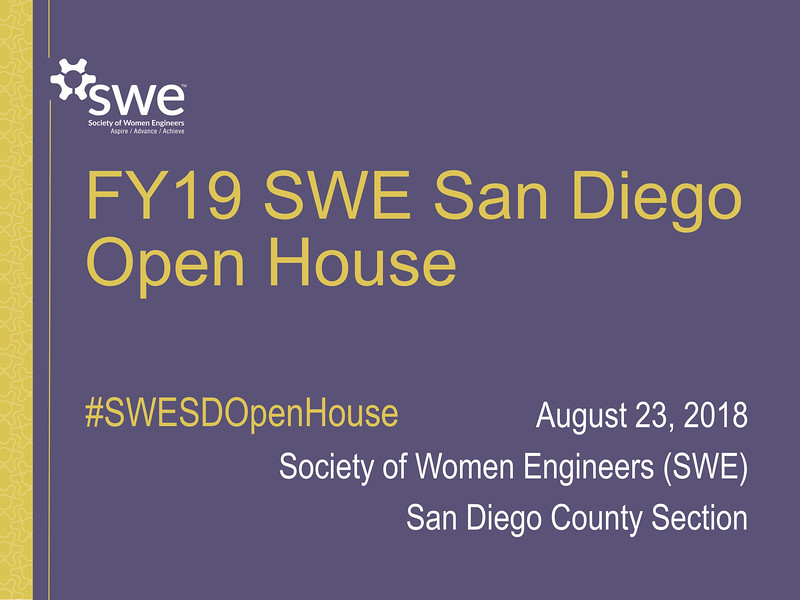 FY19 SWE-SD Open House