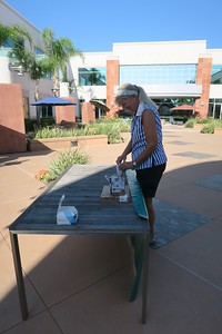 Joan setting up the general info table