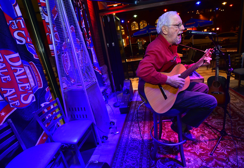 . Alan Webb performs during the open mic night at the Oskar Blues Boulder Taproom � on Tuesday.  For more photos go to dailycamera.com Paul Aiken Staff Photographer Nov 14, 2017