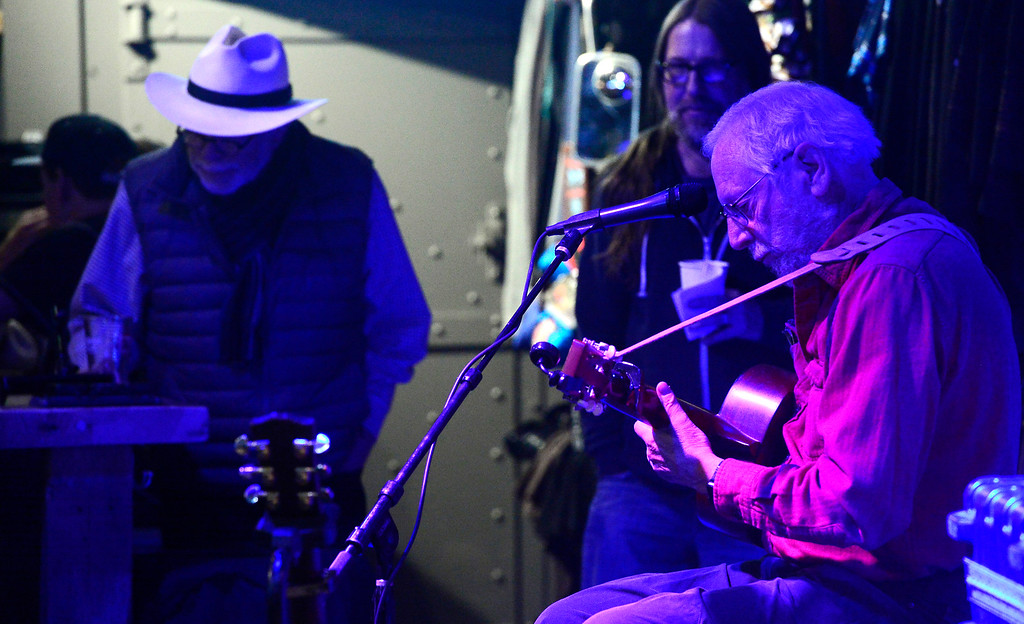 . Alan Webb plays a couple of songs during the open mic night at the Oskar Blues Boulder Taproom � on Tuesday.  For more photos go to dailycamera.com Paul Aiken Staff Photographer Nov 14, 2017