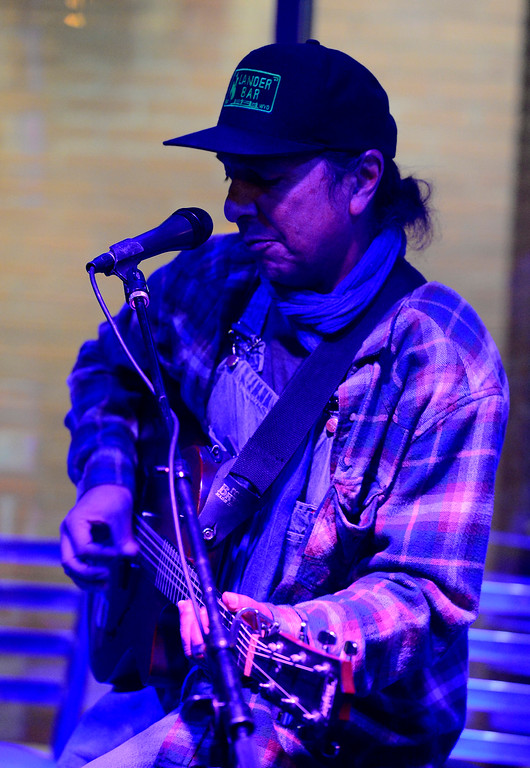 . Cary Morin plays a couple of songs during the open mic night at the Oskar Blues Boulder Taproom � on Tuesday.  For more photos go to dailycamera.com Paul Aiken Staff Photographer Nov 14, 2017