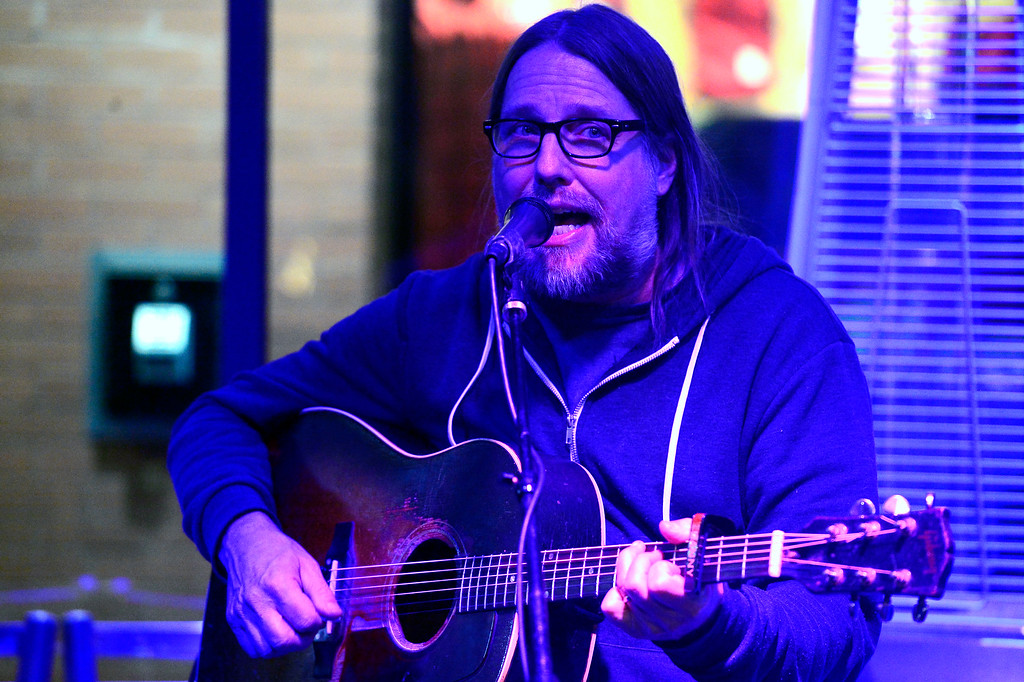 . Danny Shafer plays a song to start the night during the open mic night at the Oskar Blues Boulder Taproom � on Tuesday.  For more photos go to dailycamera.com Paul Aiken Staff Photographer Nov 14, 2017