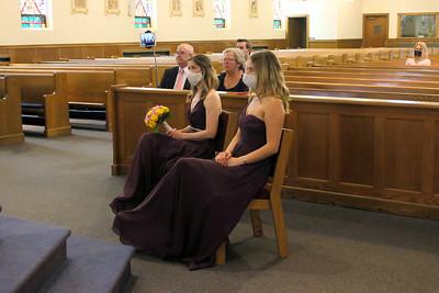 Bridesmaids at a COVID Wedding