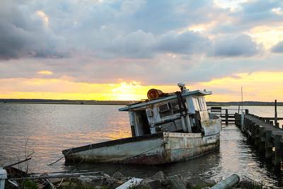 Sundown over Assateague Bay, Virginia