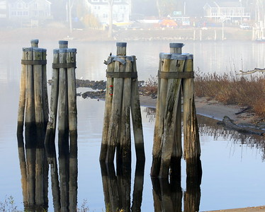 The Ferry Pilings at Rocky Hill, Connecticut