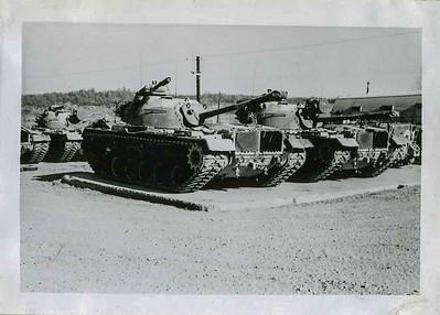 Tank Pads in the Motor Pool