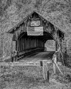 Rainy Day at the Covered ridge in Black and White