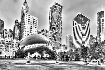 Da Bean in Black and white
